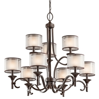 Picture for category Chandeliers 9 Light With Mission Bronze Finish Candelabra Bulb 34 inch 540 Watts