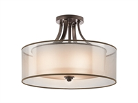 "Picture for category Semi Flush 4 Light Fixtures With Mission Bronze Finish Medium Bulb Type 20"" 400 Watts"