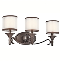 "Picture for category Bathroom Vanity 3 Light Fixtures With Mission Bronze Finish Candelabra Bulb Type 22"" 180 Watts"