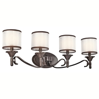 "Picture for category Bathroom Vanity 4 Light Fixtures With Mission Bronze Finish Candelabra Bulb Type 31"" 240 Watts"