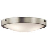 "Picture for category Flush Mounts 3 Light Fixtures With Brushed Nickel Finish Medium Bulb Type 18"" 180 Watts"