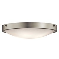 "Picture for category Flush Mounts 4 Light Fixtures With Brushed Nickel Finish Medium Bulb Type 21"" 240 Watts"