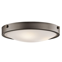 "Picture for category Flush Mounts 3 Light Fixtures With Olde Bronze Finish Medium Bulb Type 18"" 180 Watts"