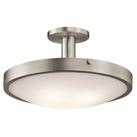 "Picture for category Semi Flush 4 Light Fixtures With Brushed Nickel Finish Medium Bulb Type 21"" 400 Watts"