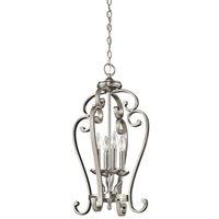 "Picture for category Pendants 4 Light Fixtures With Brushed Nickel Finish Candelabra Bulb Type 15"" 240 Watts"