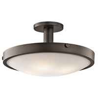 "Picture for category Semi Flush 4 Light Fixtures With Olde Bronze Finish Medium Bulb Type 11"" 400 Watts"