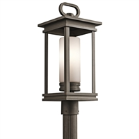 "Picture for category Outdoor Post 1 Light Fixtures With Rubbed Bronze Finish Medium Bulb Type 9"" 100 Watts"