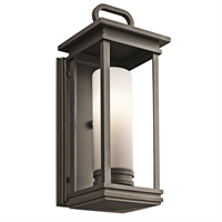 "Picture for category Wall Sconces 1 Light Fixtures With Rubbed Bronze Finish Medium Bulb Type 7"" 60 Watts"