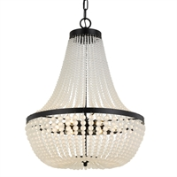 Picture for category Crystorama Lighting 608-MK Chandeliers Matte Black Steel Rylee