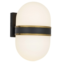 Picture for category Crystorama Lighting CAP-8504-MK-TG Wall Sconces Matte Black and Textured Gold Steel Capsule