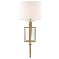 Picture for category Crystorama Lighting CLI-231-AG Wall Sconces Aged Brass Steel Clifton