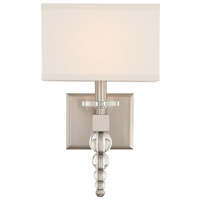 Picture for category Crystorama Lighting CLO-8892-BN Wall Sconces Brushed Nickel Steel Cloer