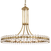 Picture for category Crystorama Lighting CLO-8899-AG Chandeliers Aged Brass Steel Cloer