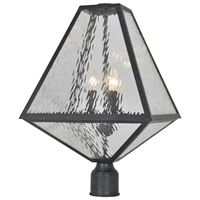 Picture for category Crystorama Lighting GLA-9709-WT-BC Outdoor Post Light Black Charcoal Steel Glacier