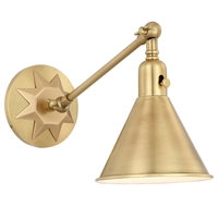 Picture for category Crystorama Lighting MOR-8800-AG Wall Sconces Aged Brass Steel Morgan