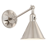 Picture for category Crystorama Lighting MOR-8800-PN Wall Sconces Polished Nickel Steel Morgan