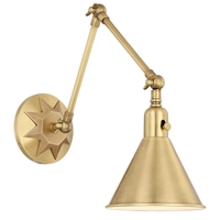 Picture for category Crystorama Lighting MOR-8801-AG Wall Sconces Aged Brass Steel Morgan