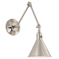 Picture for category Crystorama Lighting MOR-8801-PN Wall Sconces Polished Nickel Steel Morgan