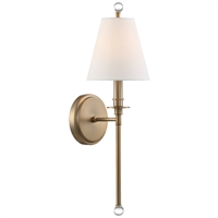 Picture for category Crystorama Lighting RIV-382-AG Wall Sconces Aged Brass Steel Rierdale
