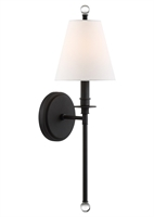 Picture for category Crystorama Lighting RIV-382-BF Wall Sconces Black Forged Steel Rierdale