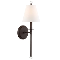 Picture for category Crystorama Lighting RIV-382-DB Wall Sconces Dark Bronze Steel Rierdale