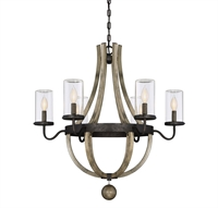 Picture for category Outdoor Pendant 6 Light With Weatherane Finish Candelabra Bulbs 29 inch 360 Watts