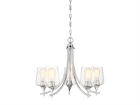 Picture for category Chandeliers 5 Light With Polished Chrome Finish Metal/Glass E Bulb 23 inch 300 Watts