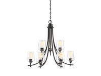 Picture for category Chandeliers 9 Light With English Bronze Finish Metal/Glass E Bulb 30 inch 540 Watts