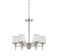 Picture for category Chandeliers 6 Light With Satin Nickel Finish Incandescent Bulbs 24 inch 360 Watts