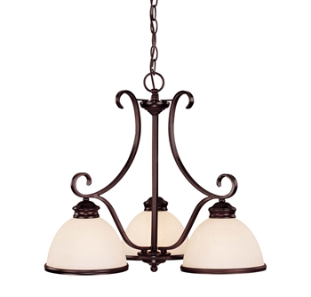 Picture of Chandeliers 3 Light With English Bronze Finish Incandescent Bulbs 23 inch 300 Watts