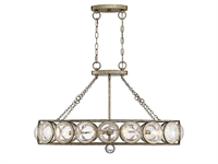 Picture for category Island Lighting 6 Light With Brittania Gold Finish Metal/Glass C Bulb 19 inch 360 Watts