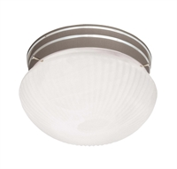 Picture for category Flush Mounts 1 Light With Satin Nickel Finish Incandescent Bulbs 7 inch 60 Watts