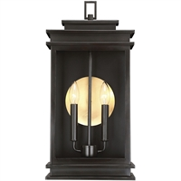 Picture for category Wall Sconces 2 Light With English Bronze Finish Steel Glass C Bulb 10 inch 120 Watts