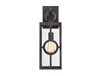 Picture for category Wall Sconces 1 Light With English Bronze Finish Metal/Glass E Bulb 7 inch 100 Watts