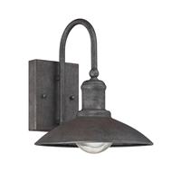 Picture for category Wall Sconces 1 Light With Artisan Rust Finish Incandescent Bulbs 9 inch 60 Watts