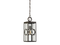 Picture for category Outdoor Pendant 1 Light With English Bronze Finish Metal/Glass E Bulb 7 inch 100 Watts