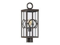 Picture for category Outdoor Post 1 Light With English Bronze Finish Metal/Glass E Bulb 7 inch 100 Watts