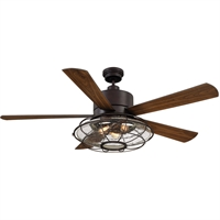 Picture for category Indoor Ceiling Fans With English Bronze Tone Finish Metal Glass Plywood Material 56 inch