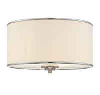 Picture for category Flush Mounts 2 Light With Satin Nickel Finish Incandescent Bulbs 14 inch 200 Watts