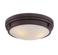 Picture for category Flush Mounts 3 Light With English Bronze Finish Incandescent Bulbs 15 inch 180 Watts