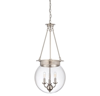 Picture for category Pendants 3 Light With Polished Nickel Finish Candelabra Bulbs 14 inch 180 Watts