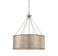 Picture for category Pendants 6 Light With Silver Patina Finish Incandescent Bulbs 25 inch 600 Watts