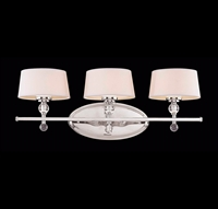 Picture for category Bathroom Vanity 3 Light With Polished Nickel Finished G9 Bulbs 27 inch 120 Watts