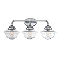 Picture for category Bathroom Vanity 3 Light With Chrome Finish Incandescent Bulbs 26 inch 180 Watts