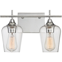 Picture for category Bathroom Vanity 2 Light With Polished Chrome Finished E Bulbs 14 inch 200 Watts