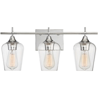 Picture for category Bathroom Vanity 3 Light With Polished Chrome Finished E Bulbs 21 inch 300 Watts