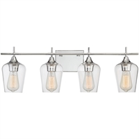 Picture for category Bathroom Vanity 4 Light With Polished Chrome Finished E Bulbs 29 inch 400 Watts