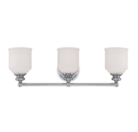 Picture for category Bathroom Vanity 3 Light With Polished Chrome Finished E Bulbs 24 inch 300 Watts