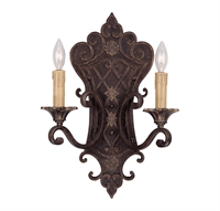 Picture for category Wall Sconces 2 Light With Florencian Bronze Finish Candelabra Bulbs 14 inch 120 Watts