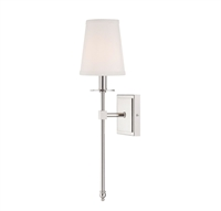 Picture for category Wall Sconces 1 Light With Polished Nickel Finish Candelabra Bulbs 5 inch 60 Watts
